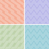 Set of vector dots seamless patterns Royalty Free Stock Image