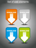 Set of vector download icons Royalty Free Stock Images