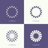 Set of vector downloaders vector illustration