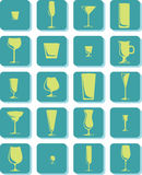 Vector Drink Glass Icons Stock Photos