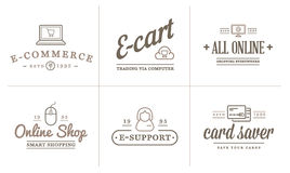 Set of Vector E-Commerce Icons Shopping and Online can be used as Logo Stock Images