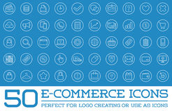 Set of Vector E-Commerce Icons. Shopping and Online can be used as Logo or Icon in premium quality Royalty Free Stock Photo