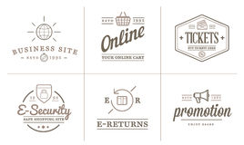 Set of Vector E-Commerce Icons Shopping and Online can be used as Logo Royalty Free Stock Photos