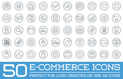 Set of Vector E-Commerce Icons. Shopping and Online can be used as Logo or Icon in premium quality Stock Photography