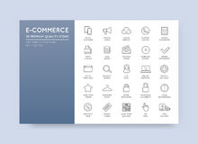 Set of Vector E-Commerce Icons Shopping and Online can be used a. S Logo or Icon in premium quality Royalty Free Stock Photos