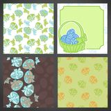 Set of vector easter backgrounds, lots detail Stock Photos