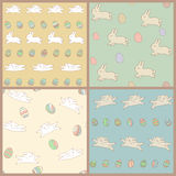 Set of vector Easter seamless patterns. Stock Images