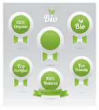 Set of vector eco badges Royalty Free Stock Photography