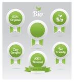 Set of vector eco badges. Bio, organic, natural Royalty Free Stock Photography