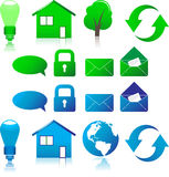 Set of vector ecological icons Stock Photo