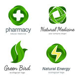 Set of vector ecological logos Royalty Free Stock Image