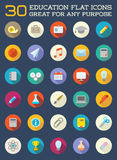 Set of Vector Education Flat Icons can be used as Logo or Icon i Royalty Free Stock Image