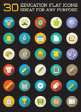 Set of Vector Education Flat Icons can be used as Logo or Icon i Stock Photo