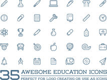 Set of Vector Education Icons. Illustration can be used as Logo or Icon in premium quality Stock Image
