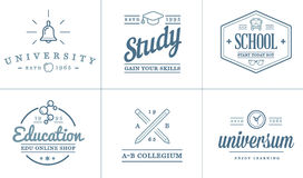 Set of Vector Education Icons Illustration can be used as Logo Stock Photos