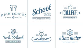 Set of Vector Education Icons Illustration can be used as Logo Stock Image
