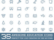 Set of Vector Education Icons. Illustration can be used as Logo or Icon in premium quality Royalty Free Stock Photos