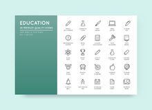 Set of Vector Education Icons Illustration can be used as Logo o Royalty Free Stock Photos
