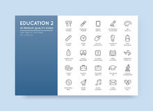 Set of Vector Education Icons Illustration can be used as Logo o Stock Photography