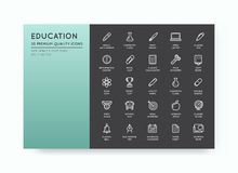 Set of Vector Education Icons Illustration can be used as Logo o Royalty Free Stock Photo