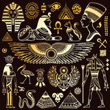 Set of Vector  Egypt symbols Royalty Free Stock Photography