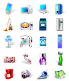 Set of vector electronics icons. Illustration of a set of vector electronics icons Royalty Free Stock Photo