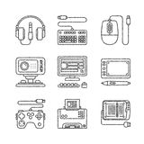 Set of vector electronics icons and concepts in sketch style Royalty Free Stock Photography