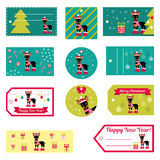Set of vector elements for Christmas and New Year design.  Royalty Free Stock Photo