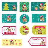 Set of vector elements for Christmas and New Year design.  Stock Photos
