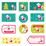 Set of vector elements for Christmas and New Year design.  Royalty Free Stock Images