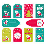 Set of vector elements for Christmas and New Year design.   Royalty Free Stock Image