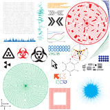 Set of vector elements for electronics design Stock Image