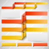 Orange elements of infographics Stock Photo