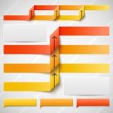 Orange elements of infographics Stock Photo