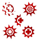 Set of vector elements for logo design Royalty Free Stock Images