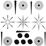 Set of vector elements. Tribal drawings. Stock Photography