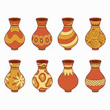 Set of vector elements (vases) Royalty Free Stock Photos