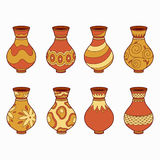 Set of vector elements (vases) Royalty Free Stock Image