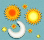 Set of vector elements for weather forecast Stock Images