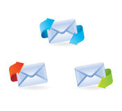 Set of vector email icons. Set of email icons - vector illustration Royalty Free Stock Photos