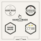 Set of vector emblems for marking handicrafts vector illustration