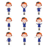 Set of Vector Emotions Character in Flat Style Stock Images