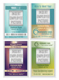Set of vector employee badge ID templates. Employee badge template design collection royalty free illustration
