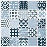 Set of vector endless geometric patterns composed with different Royalty Free Stock Photography