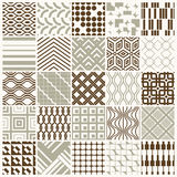 Set of vector endless geometric patterns composed with different Royalty Free Stock Image