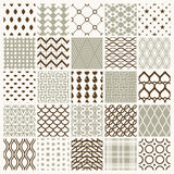 Set of vector endless geometric patterns composed with different Stock Images
