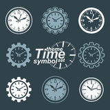 Set of vector engineering components, cog wheels. Time Royalty Free Stock Photo