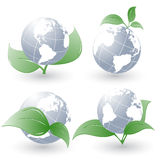 Set of vector environmental simbols Royalty Free Stock Photo