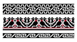 Ethnic Ukrainian seamless patterns Stock Images