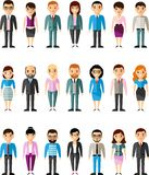 Set of vector european business peoples. Illustration of a different manager man and woman Stock Images